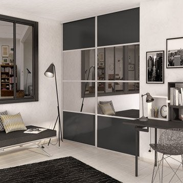 Porte de placard standard porte de placard leroy merlin for Porte coulissante placard miroir