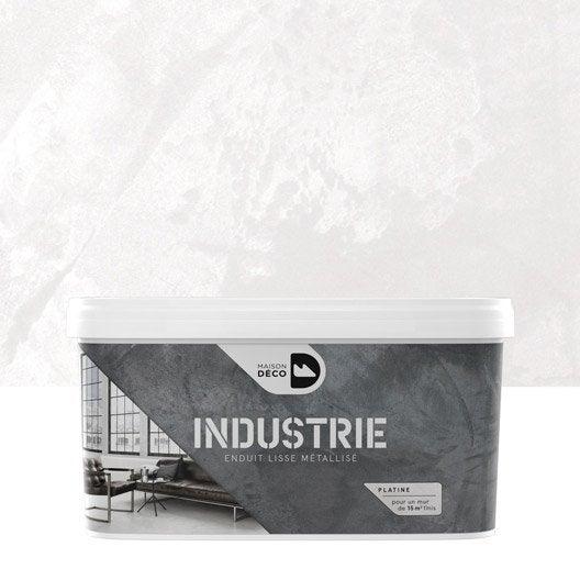 Peinture effet industrie maison deco platine 4 kg - Peinture effet metallise ...
