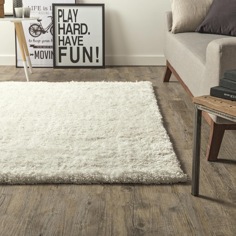 tapis blanc shaggy stylus x cm leroy merlin. Black Bedroom Furniture Sets. Home Design Ideas