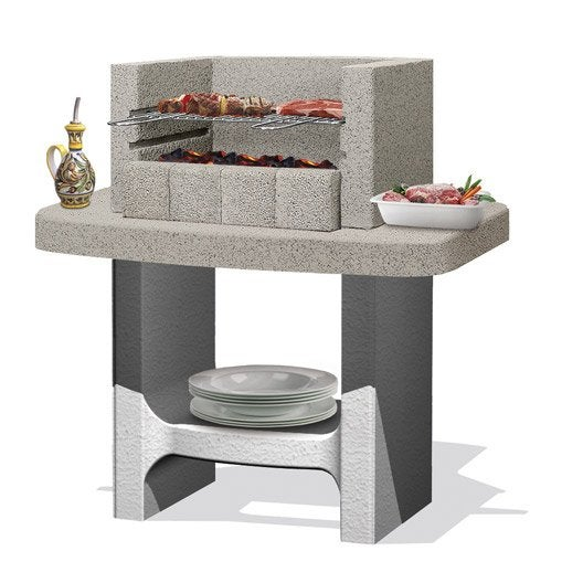 barbecue fixe barbecue b ton barbecue en pierre au meilleur prix leroy merlin. Black Bedroom Furniture Sets. Home Design Ideas