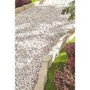 Bordure droite Olivette béton ton pierre, H.16 x L.50 cm