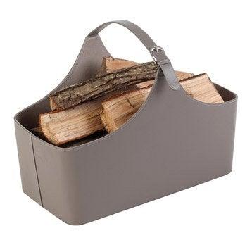 Panier b ches sac b ches range b ches range granul s leroy merlin - Panier a bois design ...