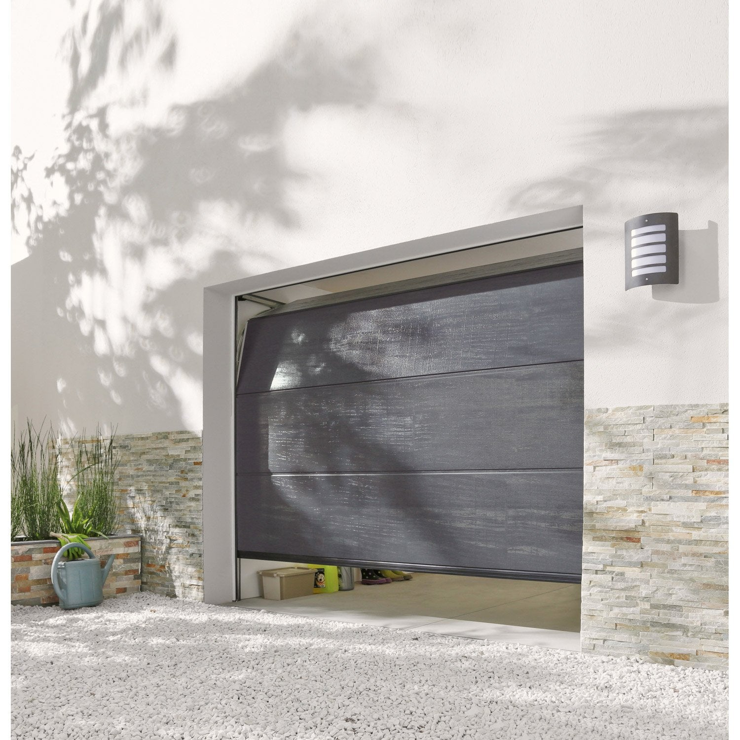 Porte de garage sectionnelle ags2 x cm leroy for Porte de garage sectionnelle 250 x 200