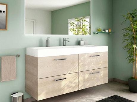 Comment choisir son meuble de salle de bains leroy merlin - Meuble vasque faible profondeur ...