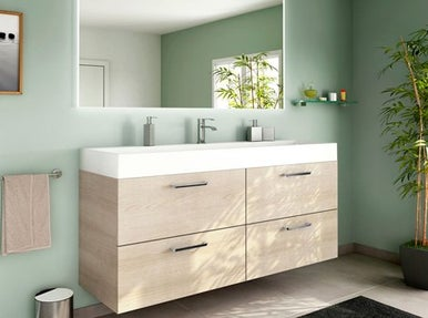 Meuble vasque etroit for Meuble salle de bain sur mesure leroy merlin