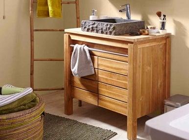 Bien choisir son meuble de salle de bains leroy merlin - Protection bois salle de bain ...