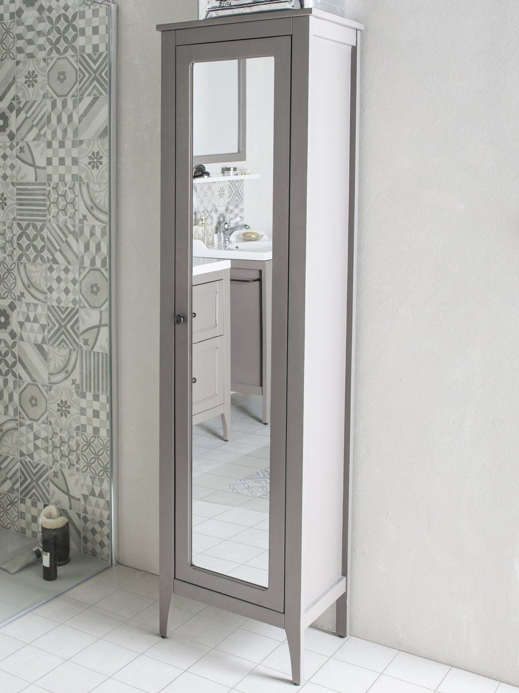 Un rangement en colonne avec son miroir pour la salle de for Colonne salle de bain miroir leroy merlin