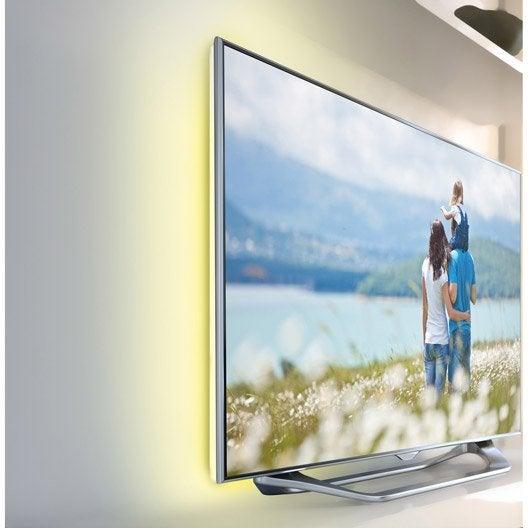 ruban led tv 2 x blanc chaud 3000k inspire leroy merlin. Black Bedroom Furniture Sets. Home Design Ideas