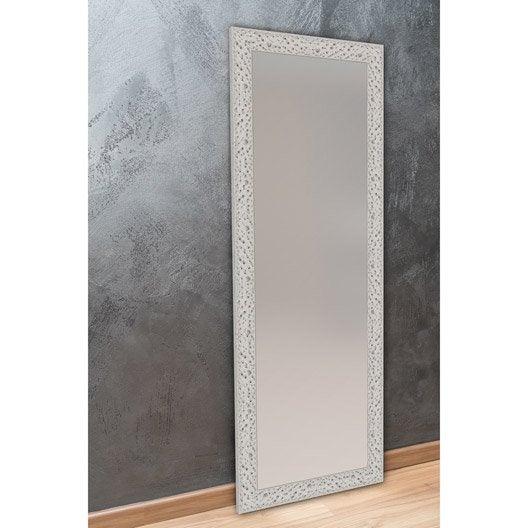 Miroir bulles argent x cm leroy merlin for Miroir hauteur 160