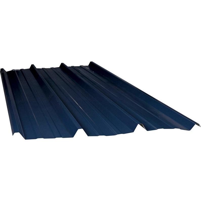 Plaque Nervurée Acier Galvanisé Bleu Ral 5008 Ondometal L 1 05 X L 3