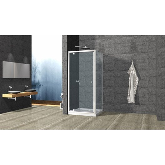 porte de douche pivotante cm transparent dado. Black Bedroom Furniture Sets. Home Design Ideas