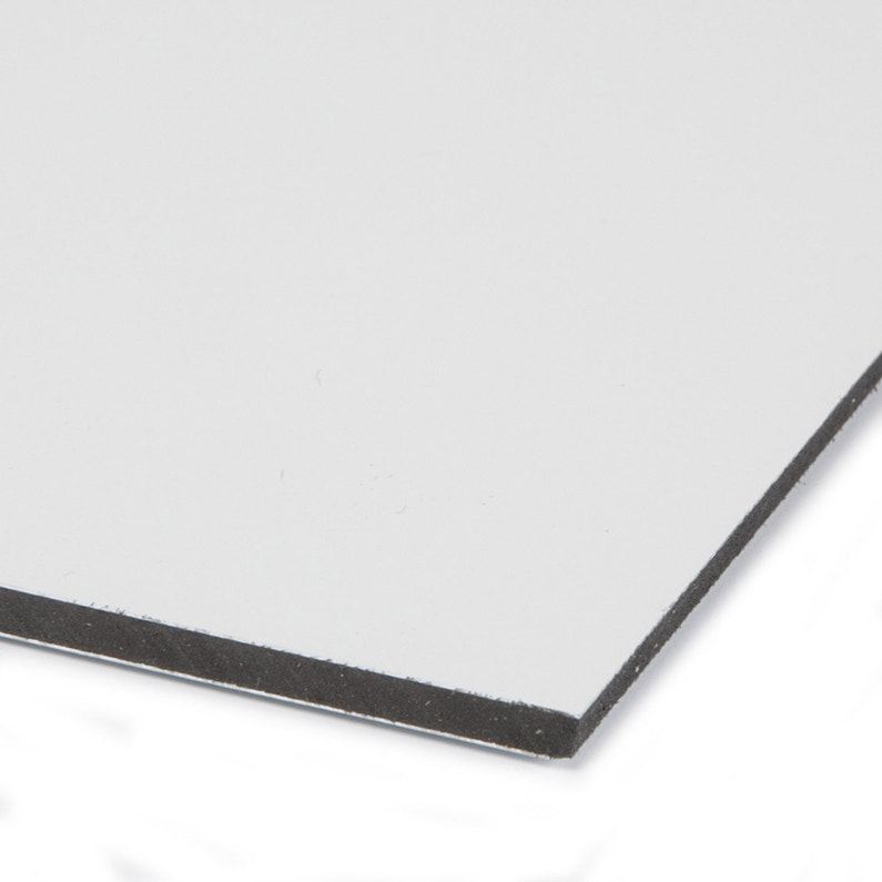 Plaque Pvc Expansé Polyéthylène Blanc Laiteux Lisse L 100 X L 60 Cm Ep 3 Mm