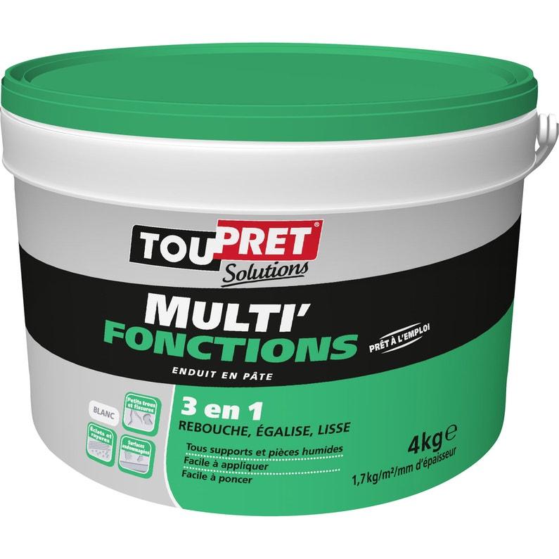 Enduit Multifonction Pâte Multi Fonctions Blanc Toupret 4 Kg