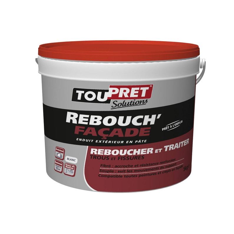 Enduit De Rebouchage Pâte Rebouch Facade Blanc Toupret 5 Kg