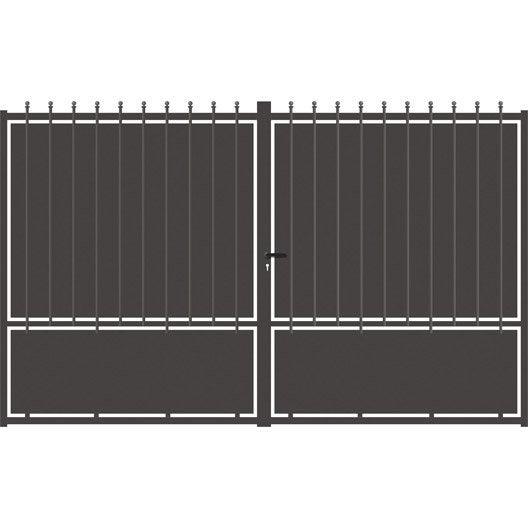 portail battant aluminium crete festonne gris anthracite. Black Bedroom Furniture Sets. Home Design Ideas
