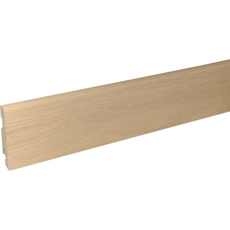 moulures pour parquet et stratifi parquet cm x x mm leroy merlin. Black Bedroom Furniture Sets. Home Design Ideas