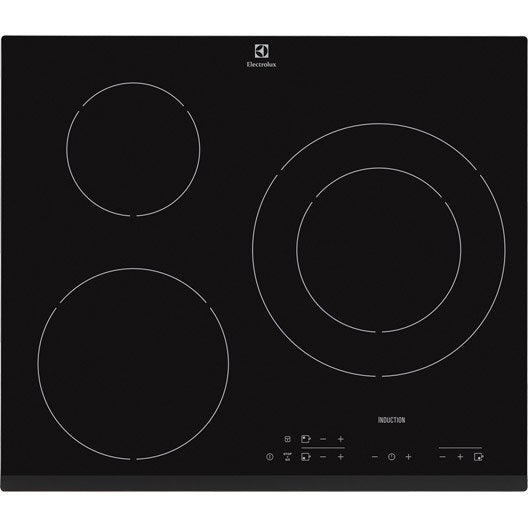 plaque induction 3 foyers noir electrolux e6223hfk leroy merlin. Black Bedroom Furniture Sets. Home Design Ideas