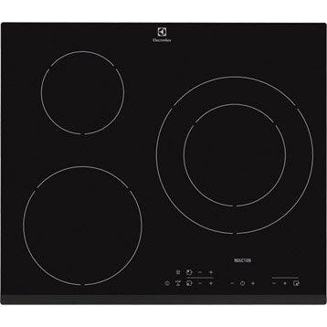 Plaque à induction 3 foyers, noir, ELECTROLUX E6223HFK