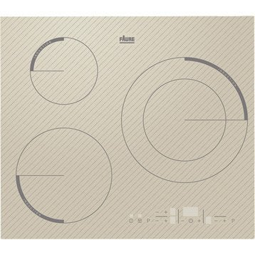 Plaque induction 3 foyers, blanc, FAURE FEI6532FSA