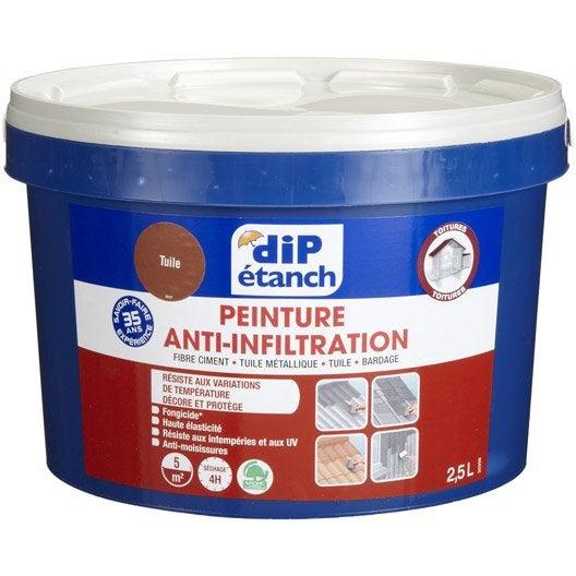 Peinture tanche toiture dip tuile 2 5l leroy merlin for Peinture anti bruit efficacite