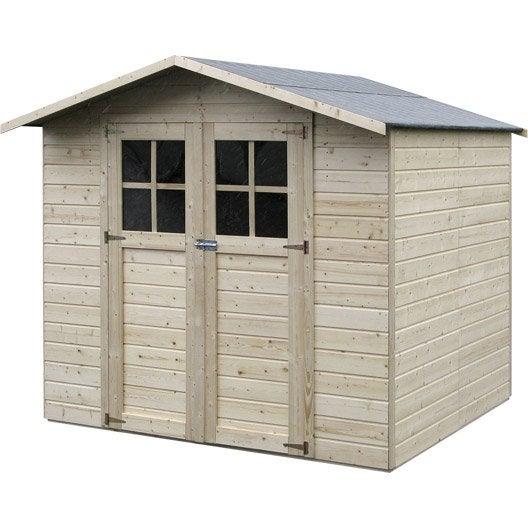 abri de jardin bois lode m mm leroy merlin. Black Bedroom Furniture Sets. Home Design Ideas