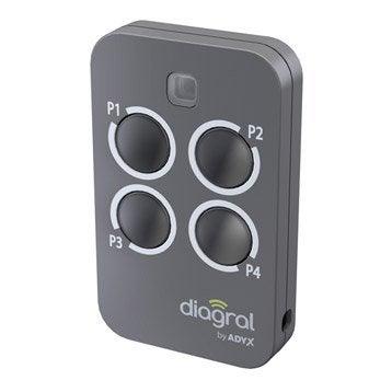 Télécommande 4 fonctions tout type de motorisation, DIAGRAL BY ADYX Diag44mcx