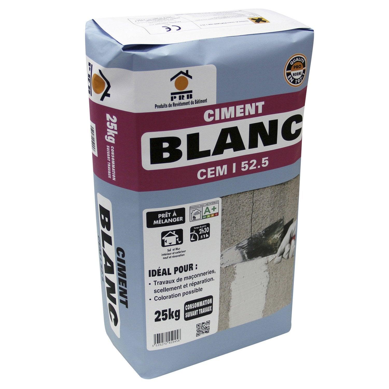 Ciment Blanc Ce Prb 25 Kg Leroy Merlin