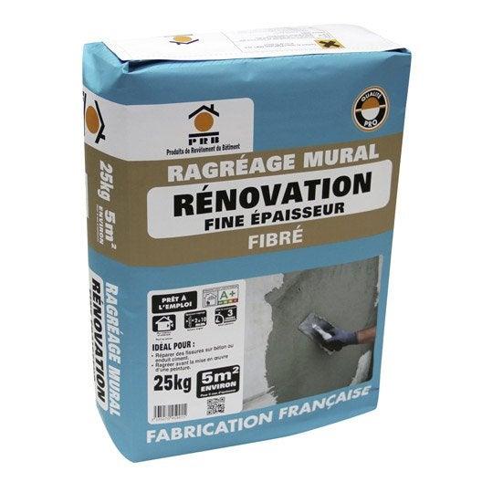 mortier de ragr age fibr hp mur prb sac de 25kg leroy. Black Bedroom Furniture Sets. Home Design Ideas