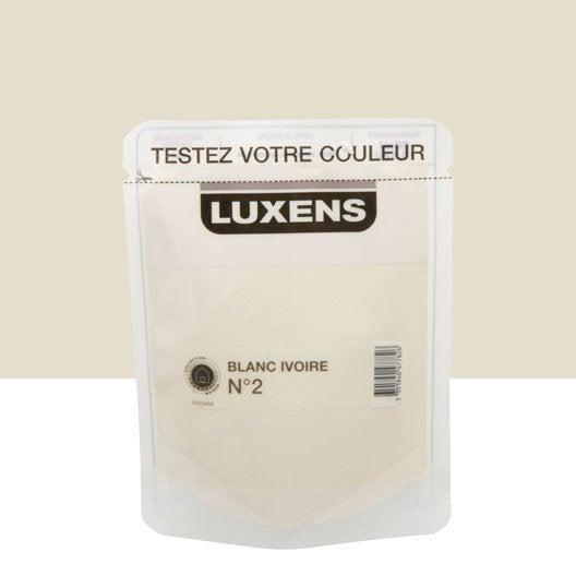 Testeur peinture blanc ivoire 2 luxens couleurs int rieures satin l le - Blanc ivoire couleur ...