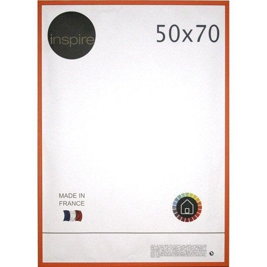 cadre kawa 50 x 70 cm orange orange n 3 leroy merlin. Black Bedroom Furniture Sets. Home Design Ideas