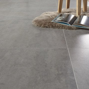 Dalle PVC adhésive GERFLOR Caractere distinctive light sugar, 60.90 x 60.90 cm