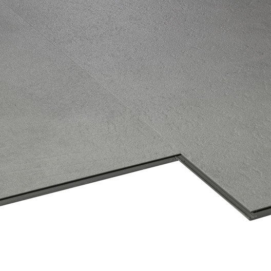Dalle pvc clipsable gris soft grey aero city aero leroy - Dalle pvc imitation carrelage ...
