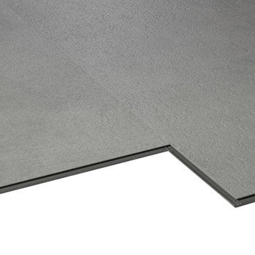 Dalle PVC clic Aero City, gris clair, 60.72 x 30.31 cm