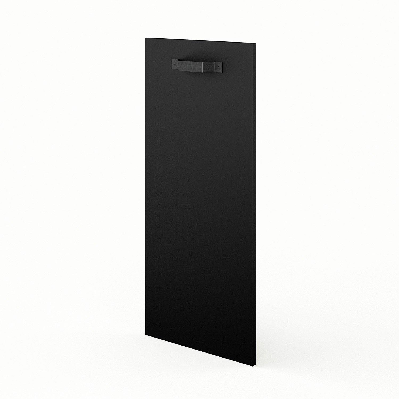Porte de cuisine noir mat edition x cm leroy merlin for Cuisine noir mat