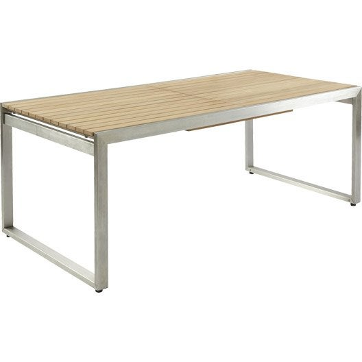 Table De Jardin Teckinox Rectangulaire Teck 10 Personnes