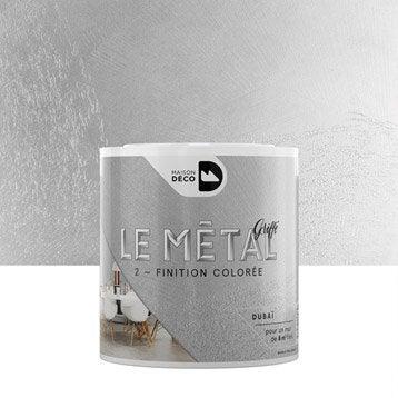 Peinture effet b ton paillet m tallis sabl nacr enduit d coratif - Beton decoratif leroy merlin ...