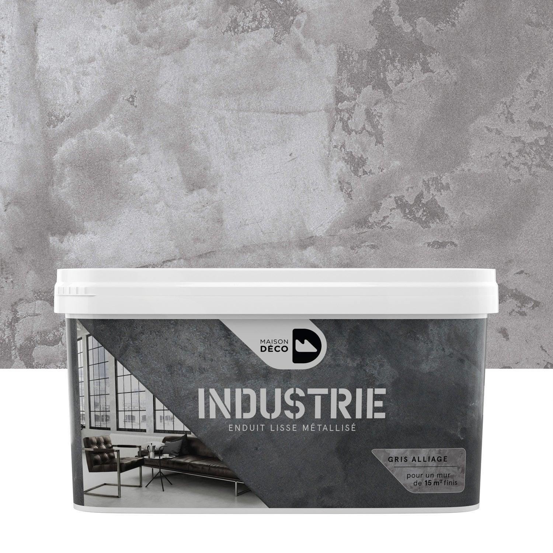 Le célèbre Peinture à effet, Industrie MAISON DECO, gris alliage, 4 kg @US_43