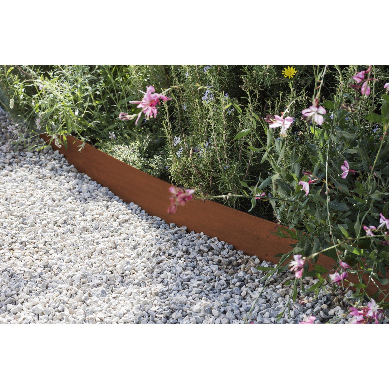 bordure planter aspect rouille acier galvanis marron h. Black Bedroom Furniture Sets. Home Design Ideas