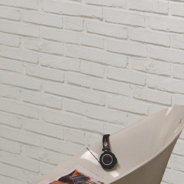 Papier Peint Blanc Brique Loft Leroy Merlin