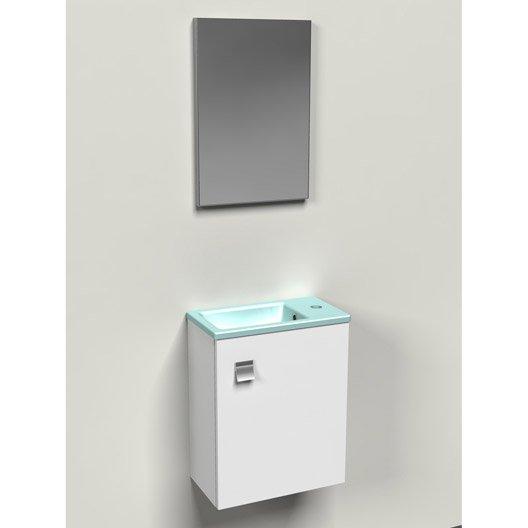 meuble lave mains sans miroir bleu x x cm leroy merlin. Black Bedroom Furniture Sets. Home Design Ideas