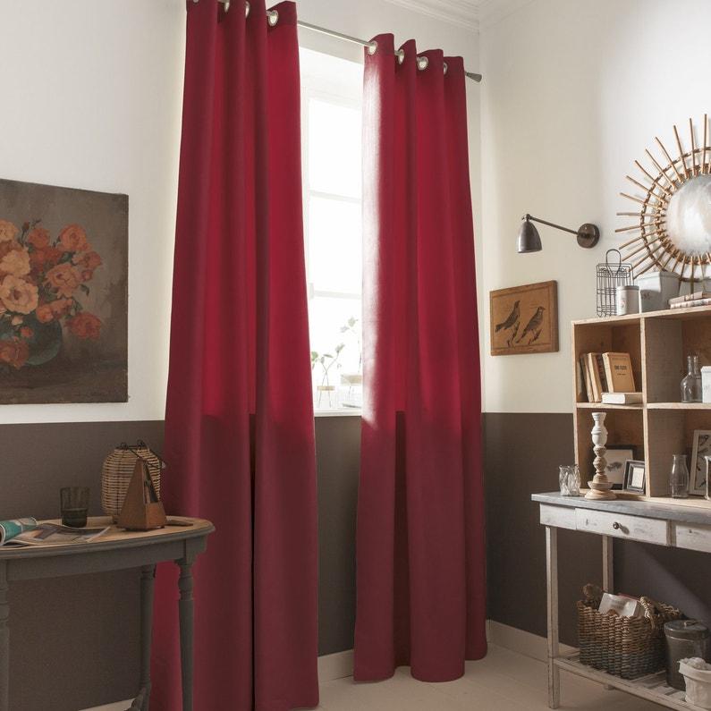 des rideaux rouges aspect su dine leroy merlin. Black Bedroom Furniture Sets. Home Design Ideas