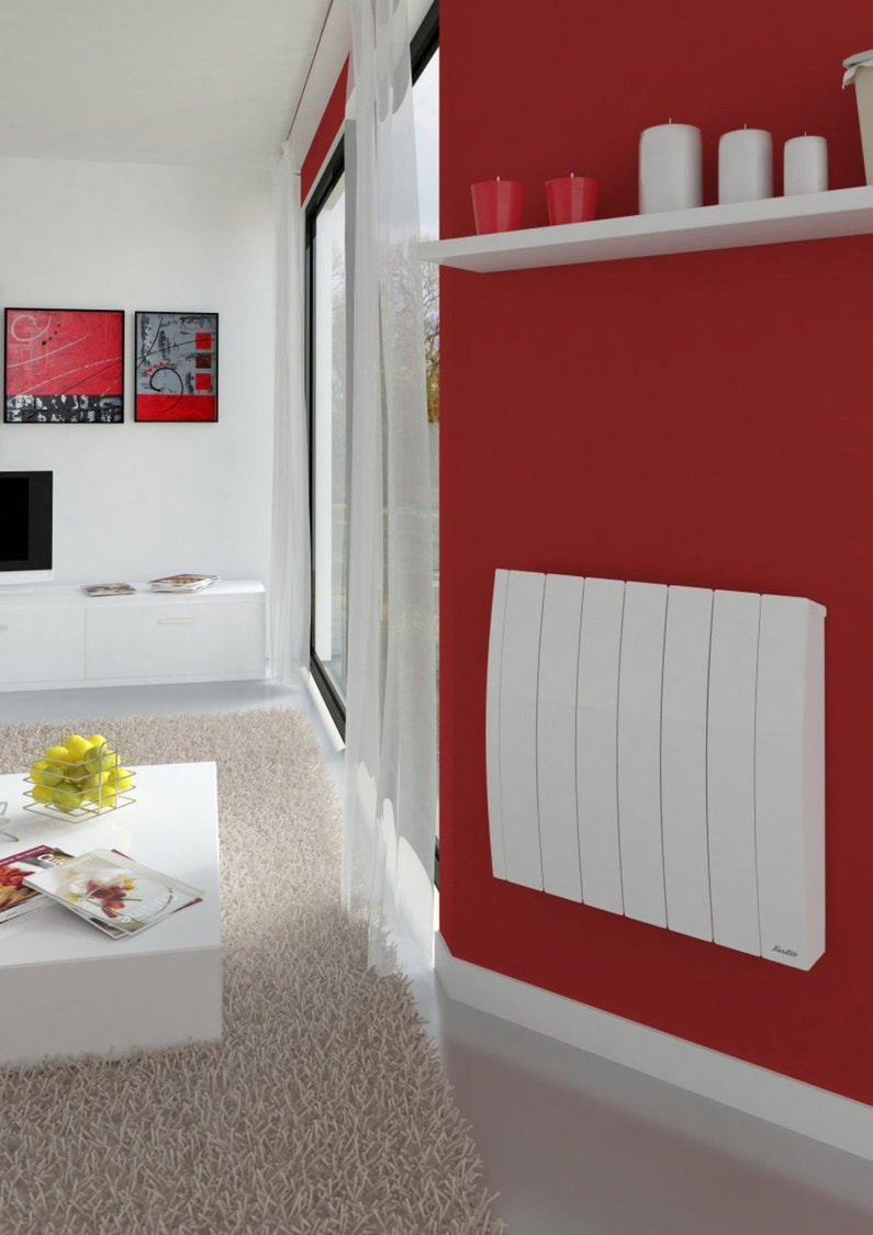 de la peinture rouge pour faire ressortir votre radiateur blanc leroy merlin. Black Bedroom Furniture Sets. Home Design Ideas