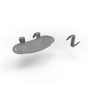 Accessoire pour lave-mains inox gris l.17 x P.8 cm, Smart