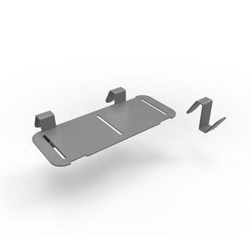 Accessoire pour lave-mains inox gris l.18.3 x P.8 cm, Smart