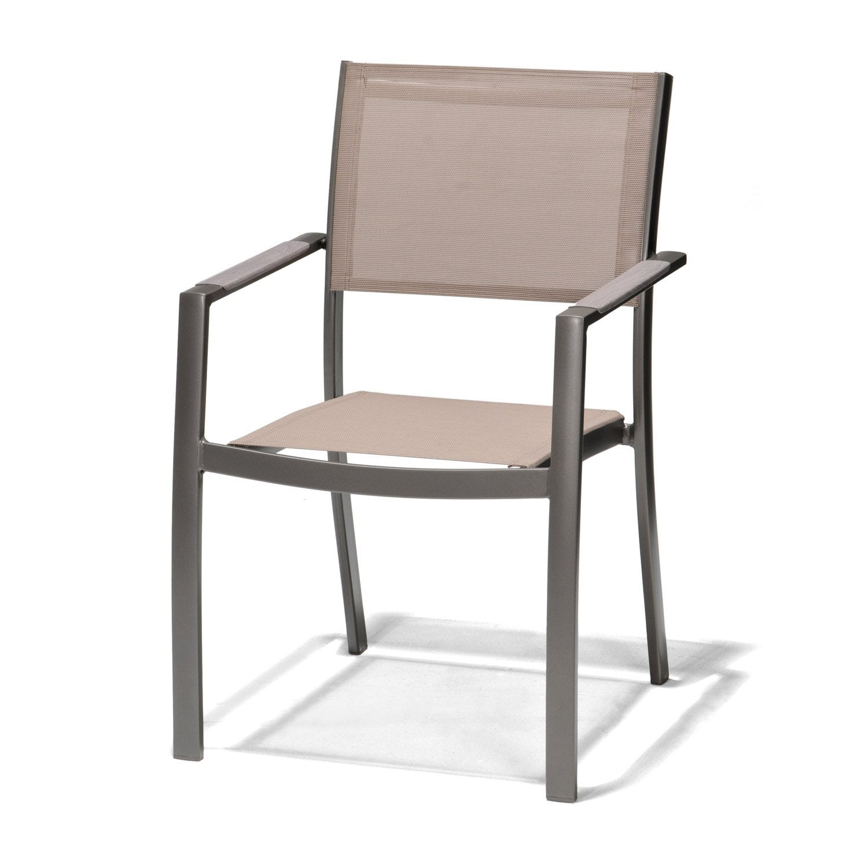 fauteuil de jardin en aluminium tnrife gris - Chaise Exterieur