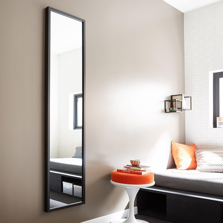 Miroir basic noir x cm leroy merlin for Espejos de pared leroy merlin