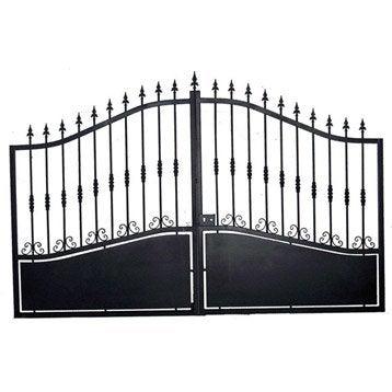 Portail Battant Rossignol, l.400cm x  h.212.0cm , couleur Noir
