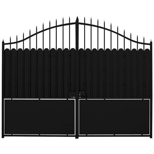 portail battant katana x couleur a peindre leroy merlin. Black Bedroom Furniture Sets. Home Design Ideas