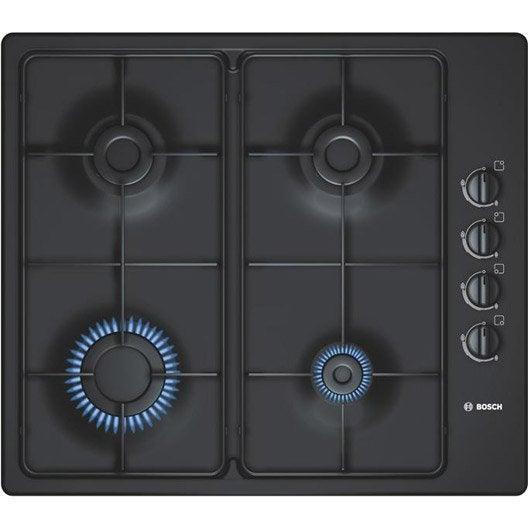 Plaque de cuisson gaz pbp616b80e bosch 4 foyers leroy - Leroy merlin plaque de cuisson ...