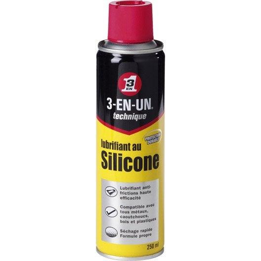 lubrifiant au silicone en a rosol 250 ml 3 en un technique leroy merlin. Black Bedroom Furniture Sets. Home Design Ideas